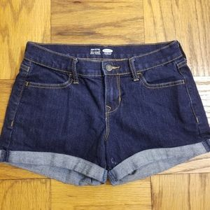 Old Navy Semi-Fitted Dark Wash Cuffed Jean Shorts